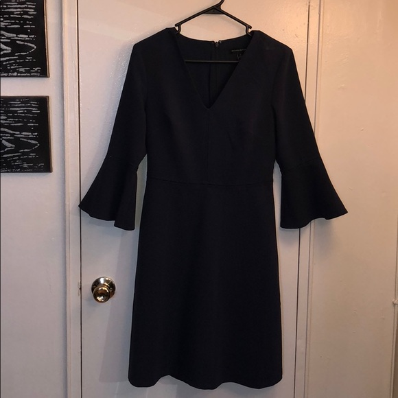 a0df4e389883 Banana Republic Dresses | Nwt Navy Blue V Neck 34 Sleeve Dress ...